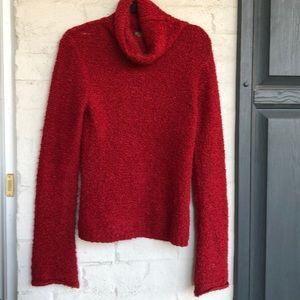 J. Crew crimson red boucle sweater